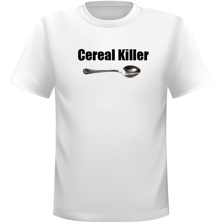 Cereal Killer T-Shirt- $24.95  The Cereal Killer TShirt is another way to express yourself with slogan tshirts!  We only use quality tshirts that are comfortable and made to last.   Give them to your friends to suit their personalities, our slogan tshirts make great gifts for anyone, including yourself! Click to see more.