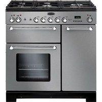 Rangemaster 98760 Kitchener 90cm Dual Fuel Range Cooker - Stainless Steel