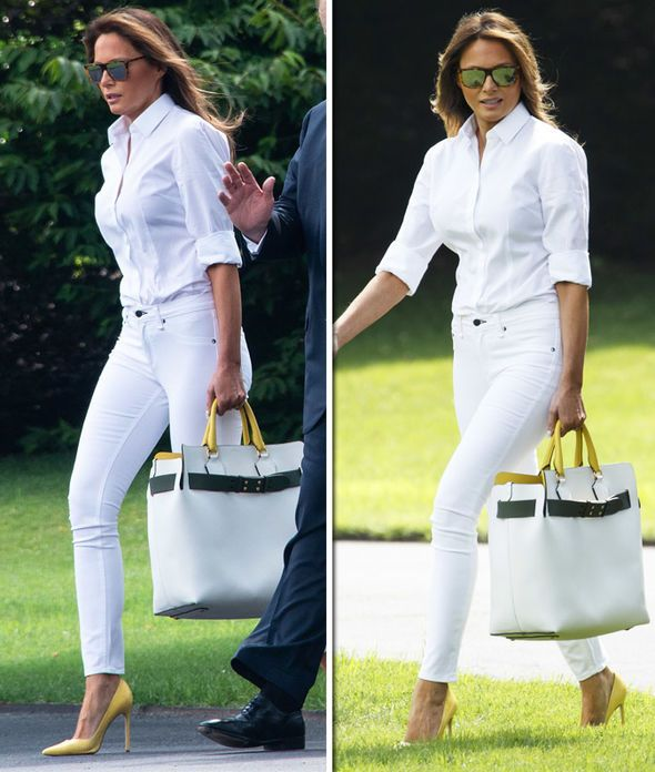 Melania Trump Shows Of Incredible Figure In Tight White