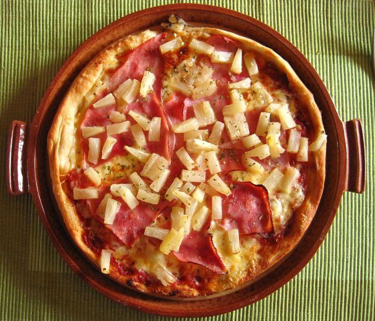 Гавайская пицца с ананасами ~ Книга рецептов на блогспот