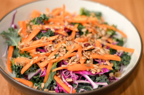 Kale and cabbage salad.