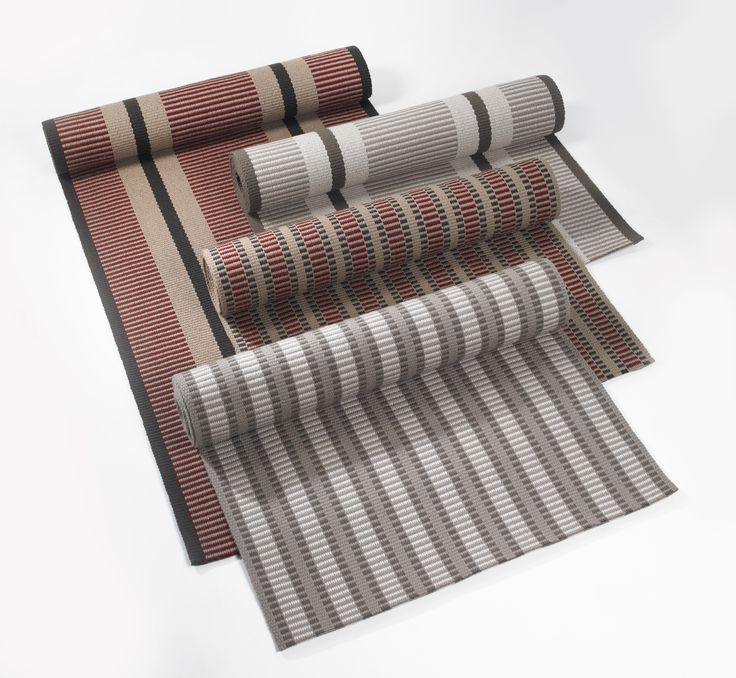 Hartley & Tissier Stripes Flatweave Stair runners and carpets.