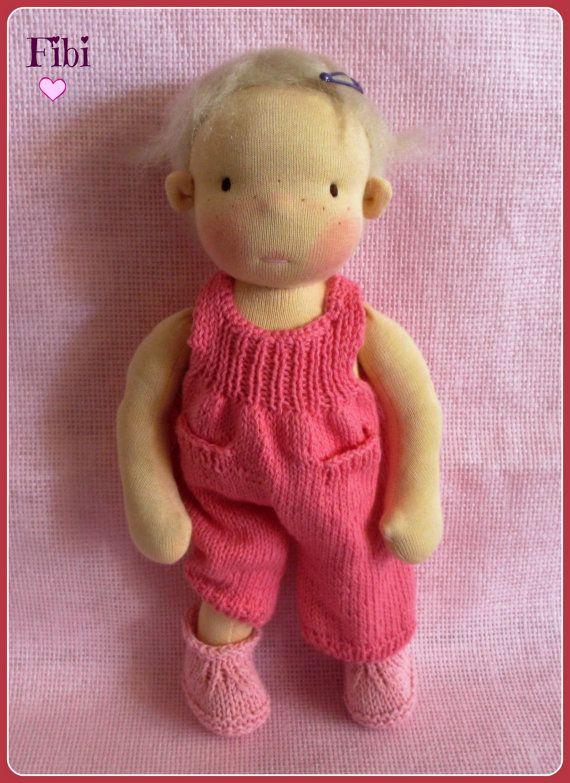 Waldorf inspirierte Puppen Fibi 13 Zoll