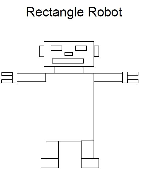 preschool rectangle activities rectangle worksheet robot preschool http www 675