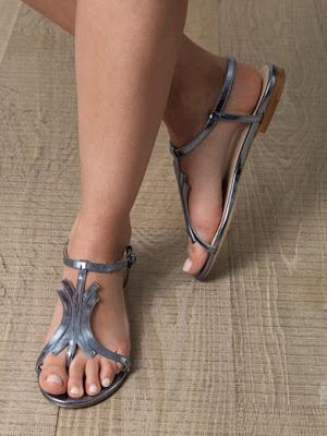 Bottega metallic sandals