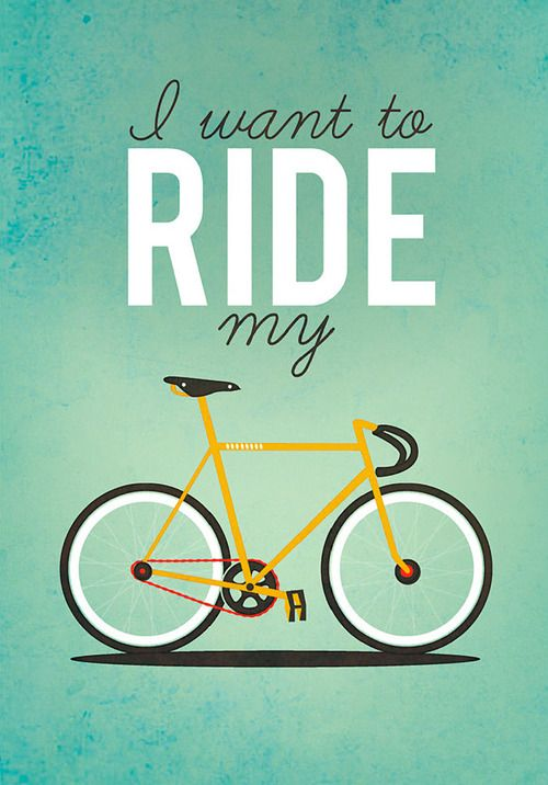 I want to ride my Bicycle  Retro Poster by Milli-Jane