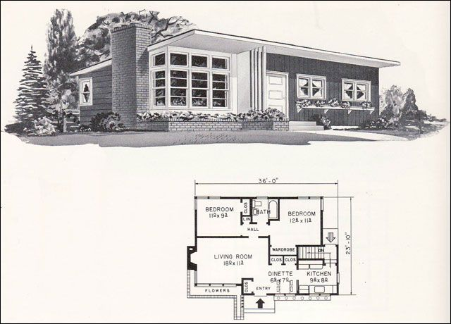 4144 by weyerhauser mid century home plans 1961 residential architural plans