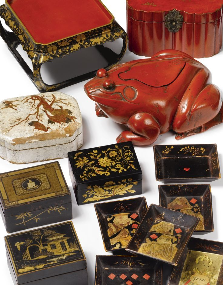 Decorative Boxes A Set Of Six Chinese Export Lacquer Games Trays Beauteous Chinese Decorative Boxes