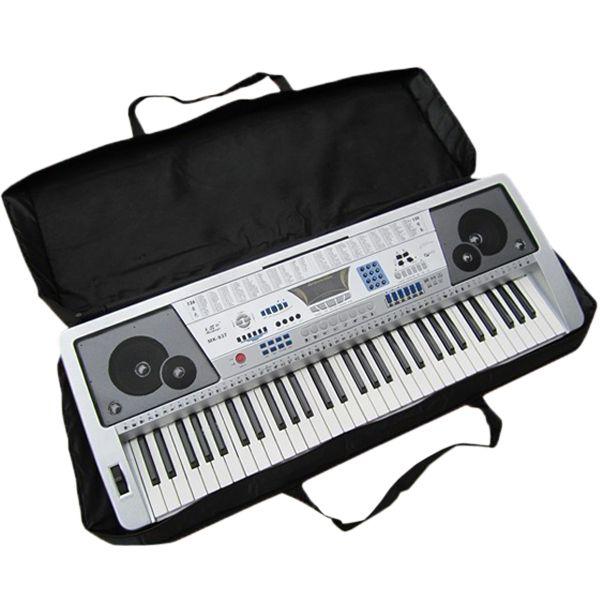 61 Anahtar Siyah Piyano Klavye Kılıf Çanta Elektronik Müzik Taşımak Oxford Bez Tote Müzik Klavye Çantası