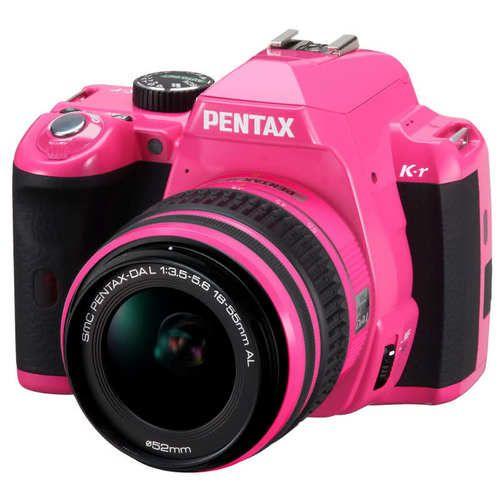 Pink Pentax Camera. So pretty!