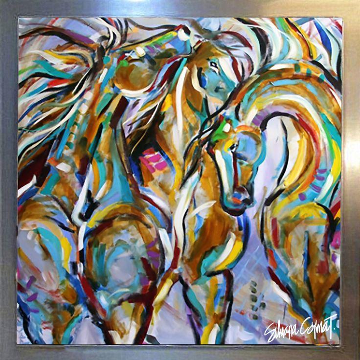 horses Acrilico sobre lienzo