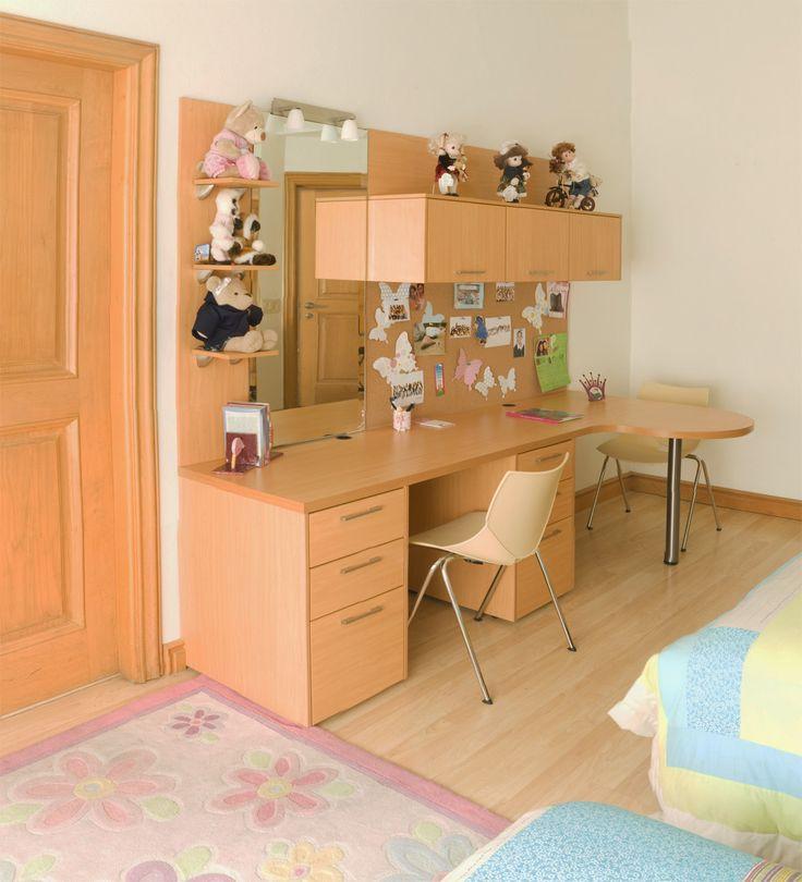 Para los niños, un escritorio siempre es de mucha ayuda para la hora de hacer tareas; también es un buen aditamento para poder organizar los juguetes y accesorios decorativos