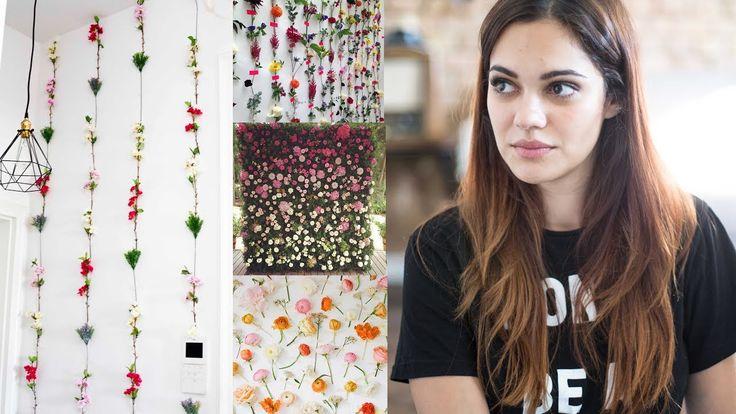 BLUMEN WAND/TAPETE (Pinterest) - Interieur DIY - günstig & einfach - YouTube
