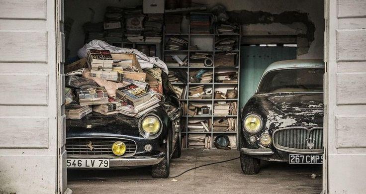 Encuentran 100 coches clásicos de gran valor abandonados en Francia - http://www.actualidadmotor.com/2014/12/06/encuentran-100-coches-clasicos-de-gran-valor-abandonados-en-francia/
