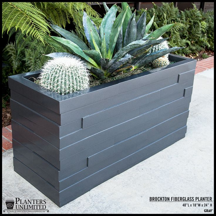 Outdoor Modern Fiberglass Planter Boxes, Rot-Free   Planters Unlimited