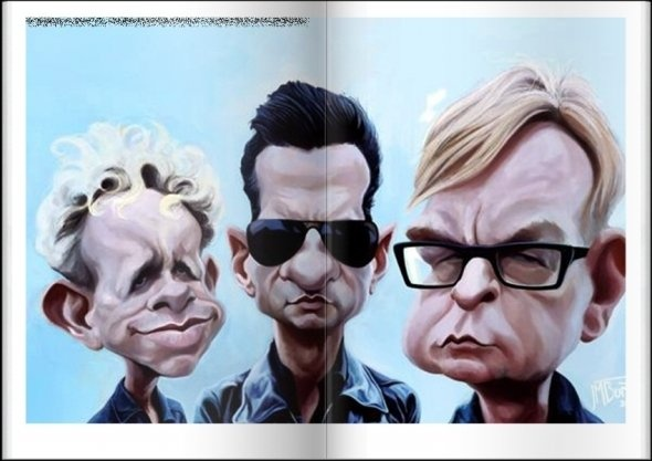 Depeche Mode caricature