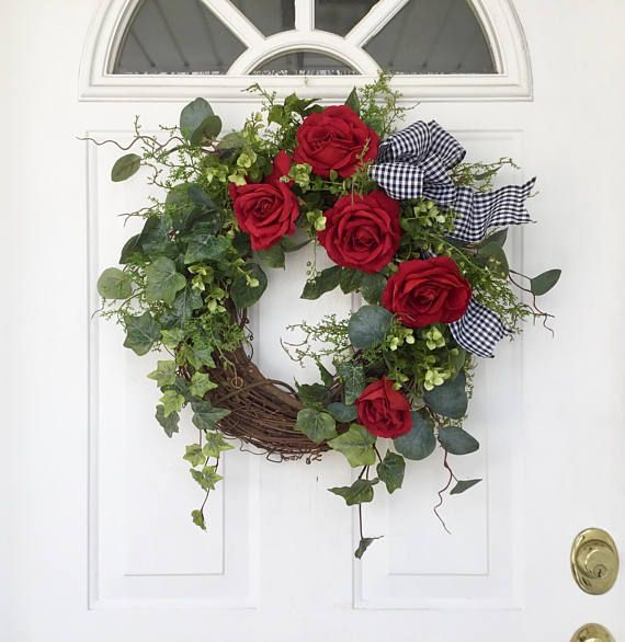 Valentine S Day Wreath Spring Wreath Wreath Ivy Wreath Rose Wreath Front Door Wreath Wedding Wreath Mother S Day Wreath Garden Wreath Valentine Day Wreaths Spring Wreath Rose Wreath