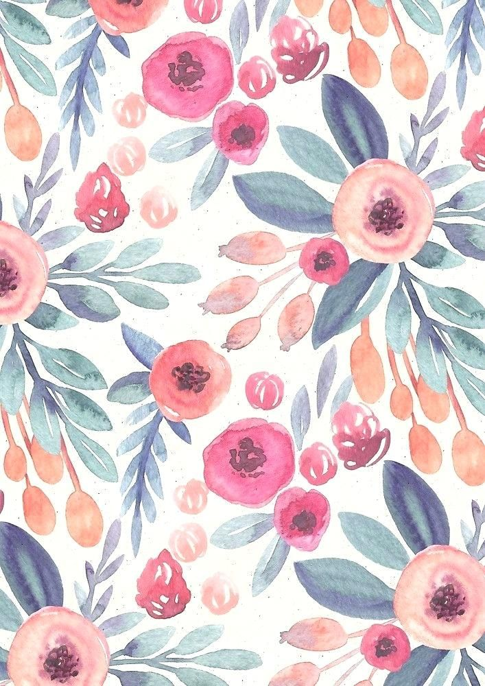 Épinglé par Pauline Lefebvre sur Inspi couleurs en 2020   Aquarelle florale, Fond d'écran fleur ...