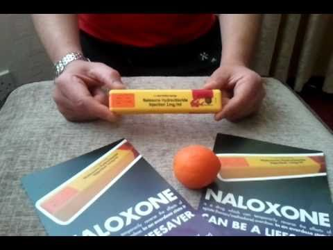 naloxone kit...talk through opening, assembly and administration.