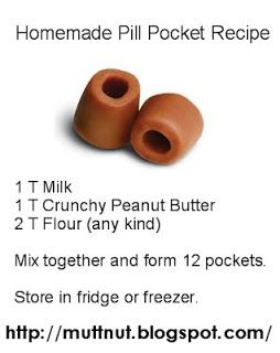 If you have an animal, you clearly know how difficult it is to feed them a pill when they are sick! Here is a great way from Muttnut to trick them with a yummy treat.