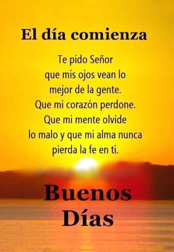 Oracion Al Comienzo Del Día Oracion De Buenos Dias Buenos