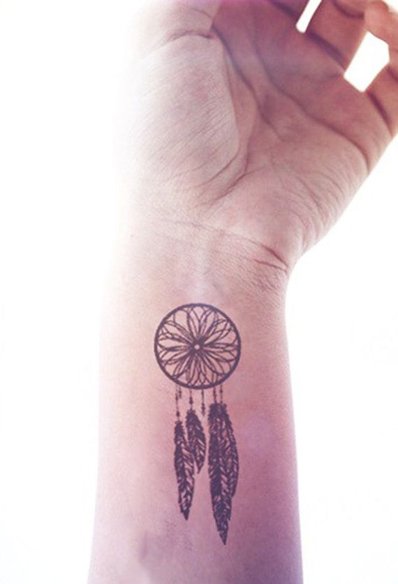 2pcs Small Dreamcatcher hipster tattoo InknArt by InknArt