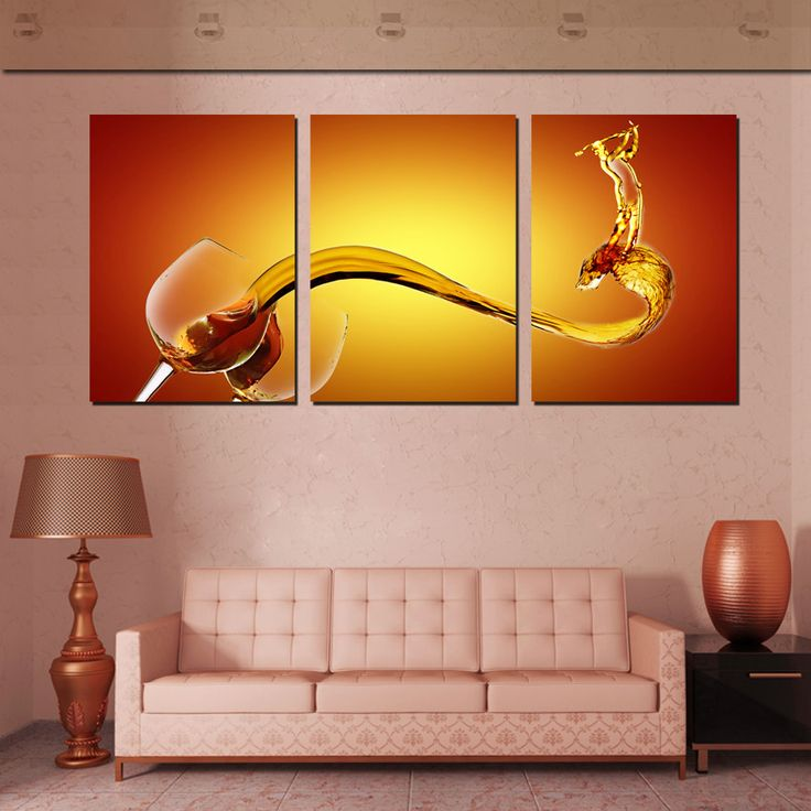 3 piece wall art picture wine splash wall art canvas oil. Black Bedroom Furniture Sets. Home Design Ideas