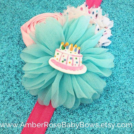 Birthday Cake Headband Punk or Blue, Twins, Baby Girl Birthday CHOOSE one, Party, First Birthday, Girl, Headband, Clip on Etsy, $9.95