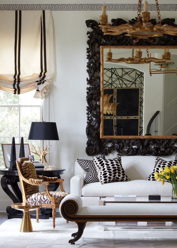 Houston's Own Hollywood House: This Design Star Keeps Things Dramatic in Her Personal Black-and-White Retreat