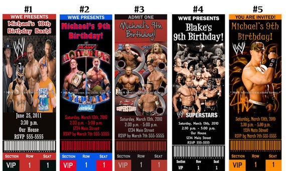 WWE tickets for invitations