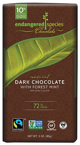 Dark Chocolate with Forest Mint | Endangered Species Chocolate