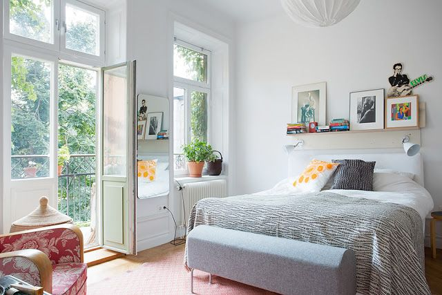 French doors in the bedroom, now there's a heavenly idea
