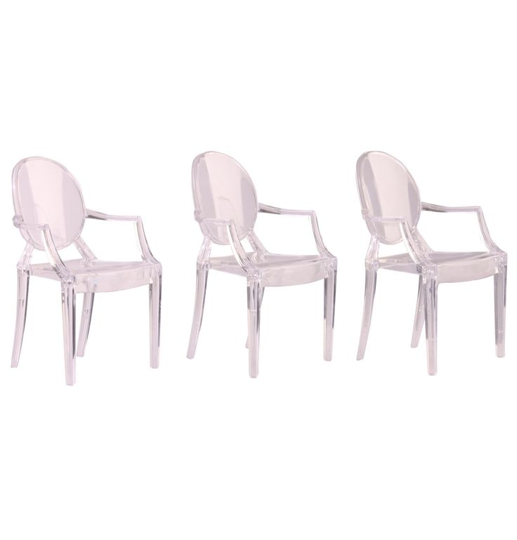 Replica Philippe Starck Set Of 3 MINI Louis Ghost Chairs By Philippe Starck