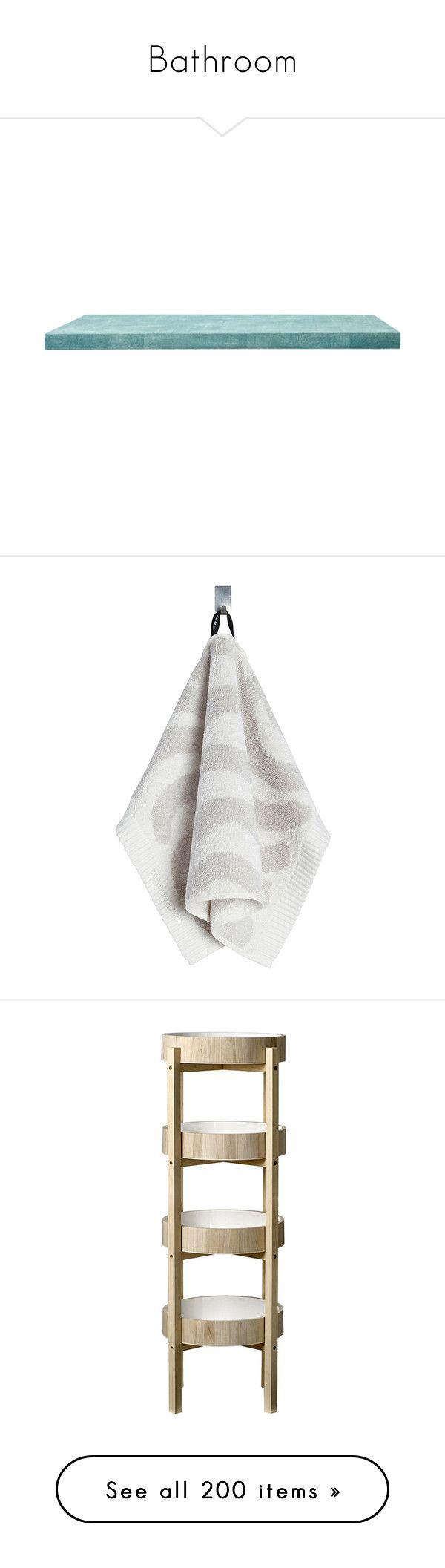 """Bathroom"" by mfoster07 ❤ liked on Polyvore featuring home, bed & bath, bath, bath towels, grey, gray bath towels, marimekko, ivory bath towels, patterned bath towels and grey bath towels"