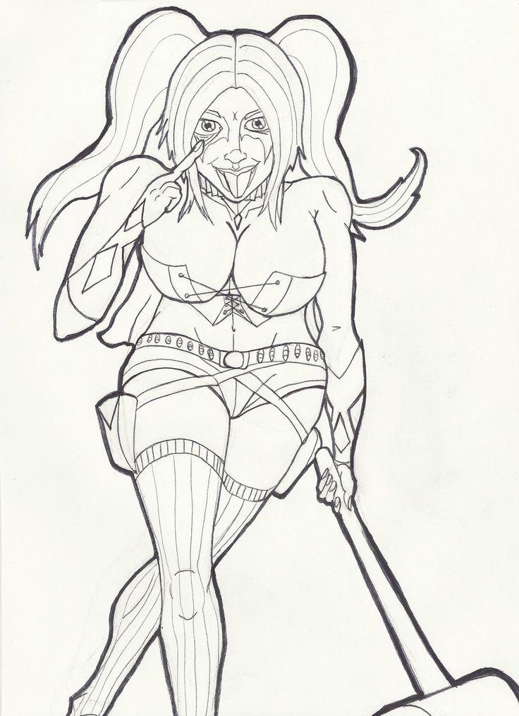 harley quinn coloring pages suicide squad - 90 best images about tv coloring on pinterest angel