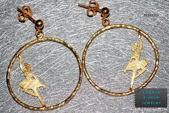 hoop earrings ballerina sterling silver jewelry gold-plated #freeshipping #free #shipping #worldwide #ballarina #love #earrings #jewelry #sterling #silver #handmade #jewellery #gift #joyas #goldplated #dancer #ballet #κοσμημα #ασημενιο #επιχρυσο #χειροποιητο #σκουλαρικια #δωρεαν #αντικαταβολη #μεταφορικα #lakasaeshop