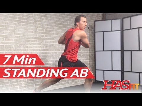 7 Min Standing Ab Workout for Women & Men - Standing Exercises for Flat Stomach Standing Up - YouTube