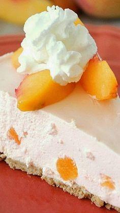 Cremiger Pfirsichkuchen – Dieser cremige Pfirsichkuchen ist SO leicht und flauschig. Es ist wirklich das …   – Low Carb