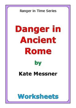 """This is a 43-page set of worksheets for the story """"Danger in Ancient Rome"""" by Kate Messner. For every chapter, there is one worksheet: * comprehension questions * story activity In addition, this novel study includes a wide variety of differentiated worksheets and activities: * story review * language skills * story reflection * theme * connections * review activity * cause and effect * compare and contrast * w questions * illustrations * characters * character"""