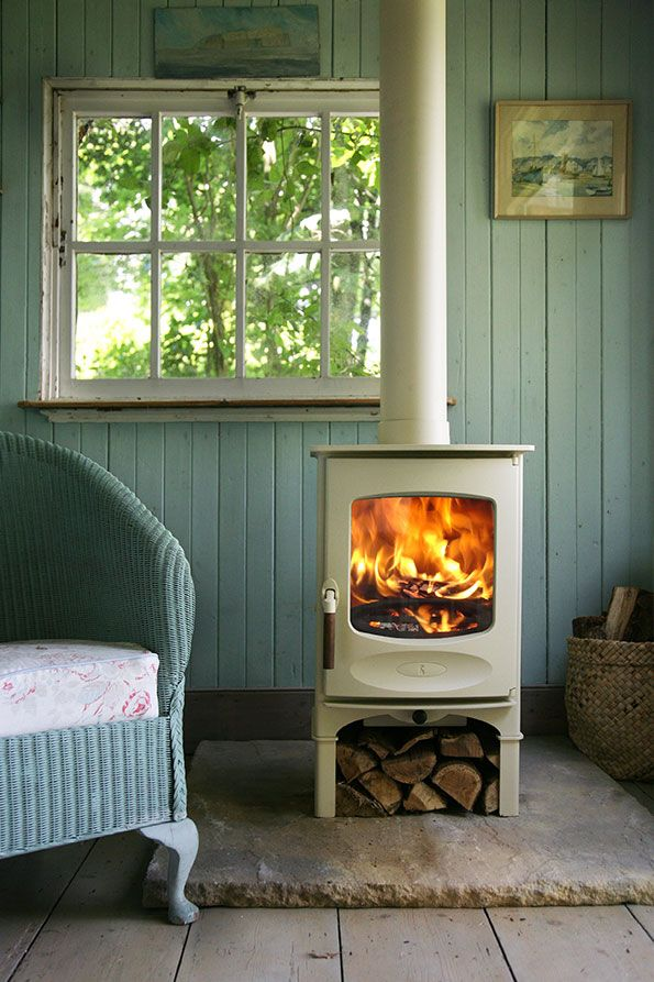 Stufe A Pellet Shabby Chic.C Four Woodburning Stove In Almond Somerville House In