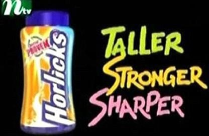 "From this image, we can see that the product was designed for children but the advertisement was designed to attract the parents. Although the words used are simple ""taller, stronger, sharper."" But it concludes the heartfelt wishes of every parent. Most of the parents do want their child to grow taller, get stronger and become smart. The three words were written in different colors, the colors can represent the flavor of the product which attracts the children to want to taste them."