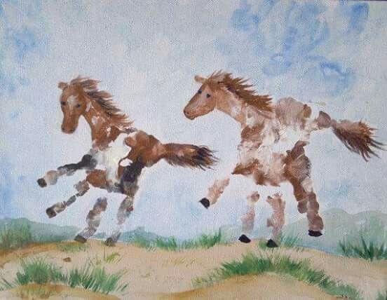 """Handabdruck """"Pferd"""""""