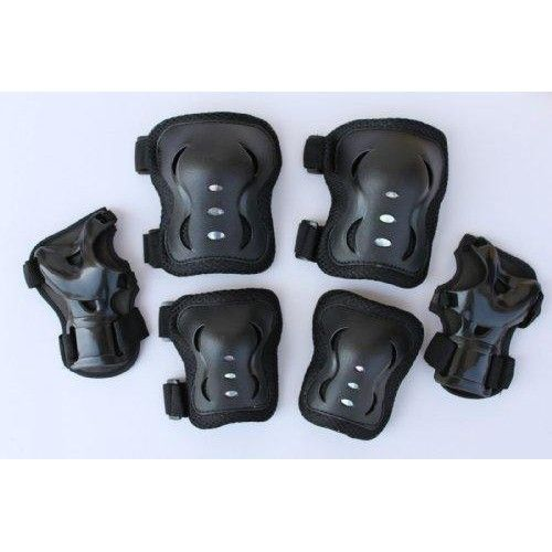 Fantasycart Kid'S Roller Blading Wrist Elbow Knee Pads Blades Guard 6 Pcs Set In Black Great Christmas Gift  You are buying one set(6 pieces) in black. The Inline Skate Pads also suitable for skateboard, biking, minibike riding, and other extreme sports. Commodity: Wrist Elbow Knee Pads Package Includes: 2pcs knee pads, 2pcs elbow pads, 2pcs wrist pads.