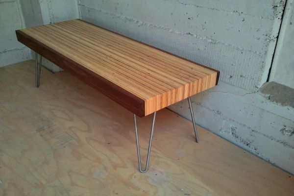 1000 images about media console on pinterest modern for Plywood table hairpin legs