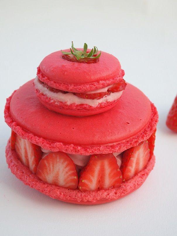 La religieuse de macarons complètement fraises de Babou64