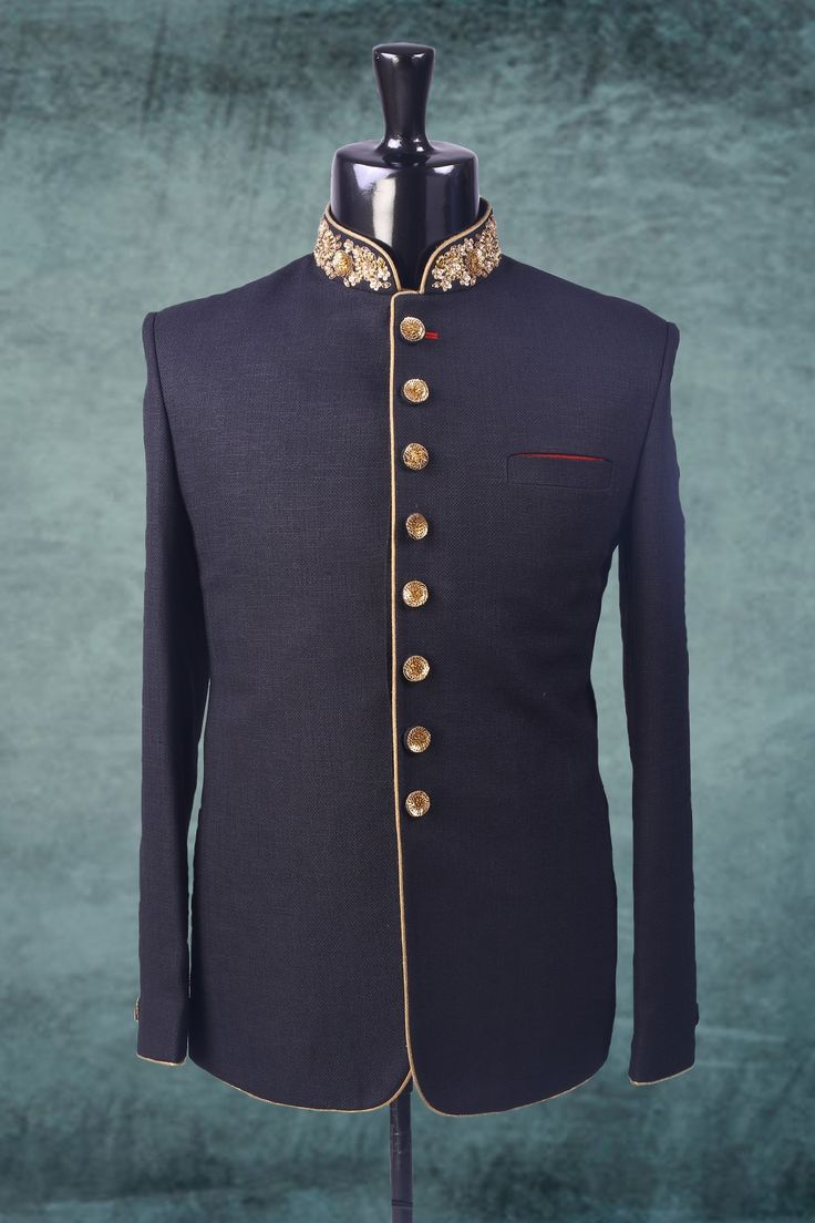 Navy blue zari worked falling fabric suit-ST238 #navy #blue #zari #worked #falling #fabric #mens #indian #fashion #designer #suit #partywear #casual #festive #groom #wedding #marriage #reception #latest #stylish #designs
