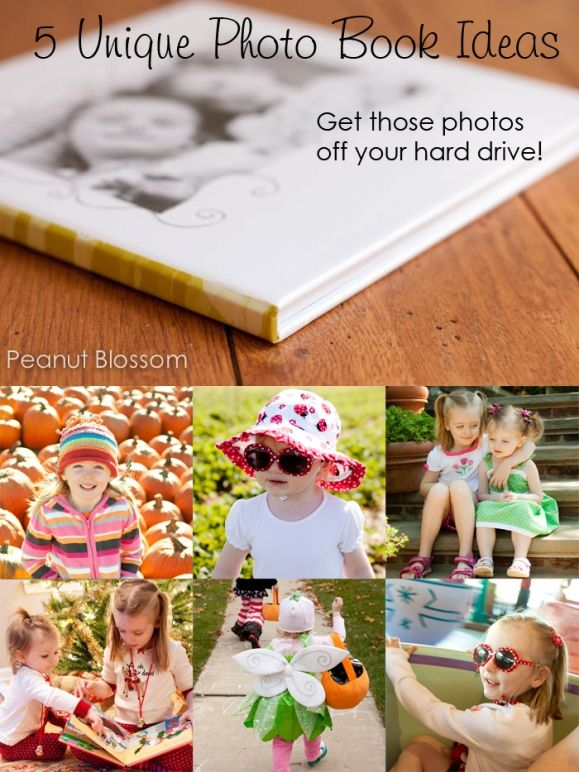 5 Unique Photo Books Ideas to kickstart your creativity. Do you ever print your photos or are they sitting on your hard drive unseen and unloved?? Click through for a 20% off coupon for any photo book from AdoramaPix.