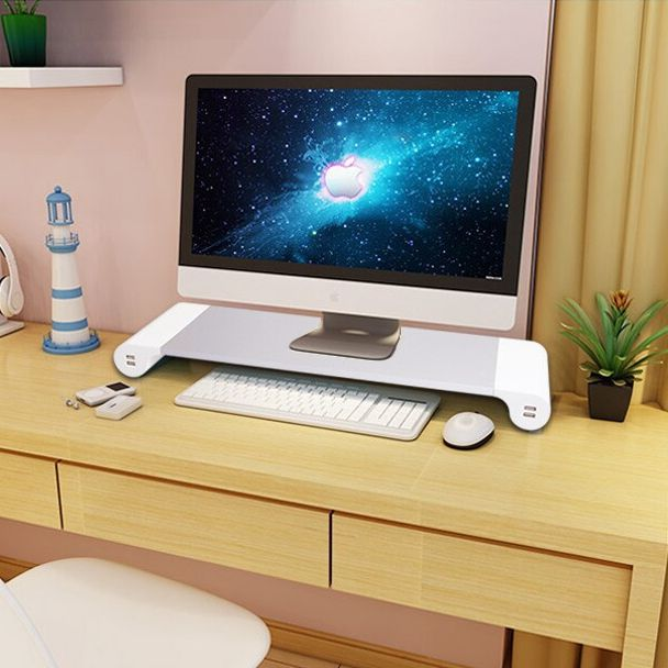 Smart 4 usb porta de desktop carregador de liga de alumínio titular suporte de base para macbook laptop monitor de tela