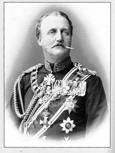 Georg Albert, Prince of Schwarzburg-Rudolstadt (1838 - 1890) was the penultimate sovereign prince of Schwarzburg-Rudolstadt. He was the son of Prince Albert of Schwarzburg-Rudolstadt & his wife Princess Augusta of Solms-Braunfels. Princess Augusta was the daughter of Prince Friedrich Wilhelm of Solms-Braunfels & his wife Duchess Frederica of Mecklenburg-Strelitz, the daughter of Grand Duke Charles II. Prince Georg never married.