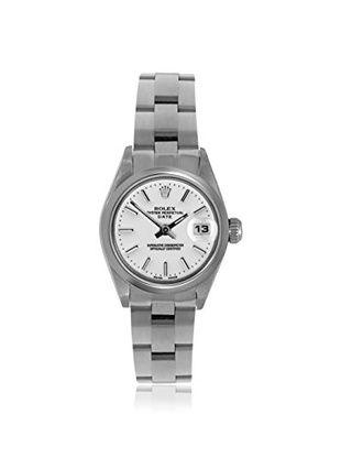 Rolex Women's Datejust White Index Stainless Steel Watch